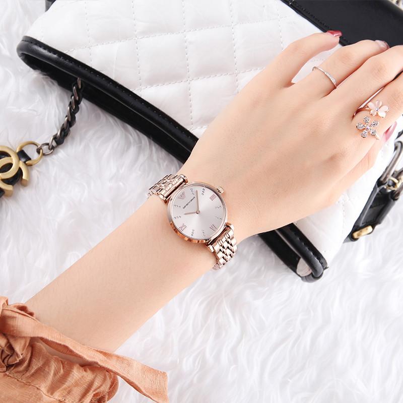 EMPORIO ARMANI阿玛尼手表女 满天星钢带女表商务时尚女士AR11059