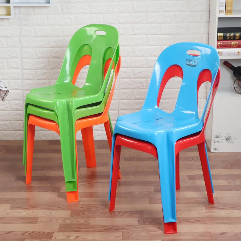 塑料靠背餐椅子 办公椅塑料餐椅 创意个性家用凳子 休闲靠背椅子