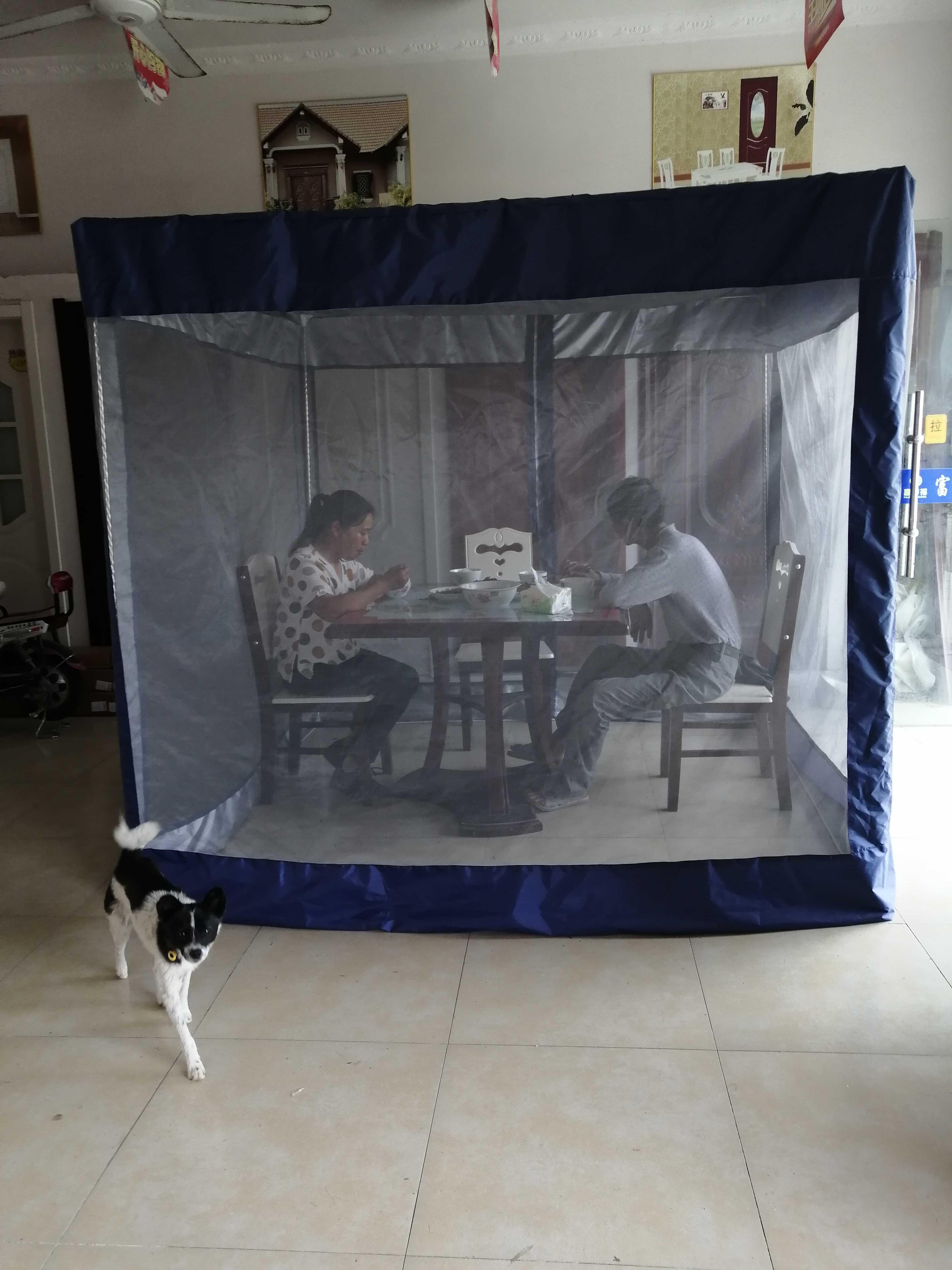 上新户外房间庭院吃饭聊天防蚊防苍蝇神器网纱透气帐篷蚊帐