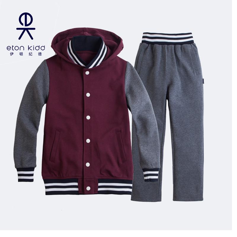 伊顿纪德运动裤男女童校服运动套装中小学生运动套装卫衣校服班服