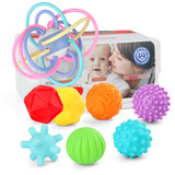 Baby Manhattan handball can be boiled tactile perception ball gums molars chew baby toys puzzle soft glue