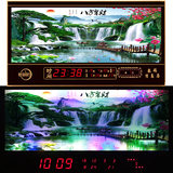 Kai Lee luminous living room wall clock 2019 when the new LED digital calendar wall calendar electronic timepiece when