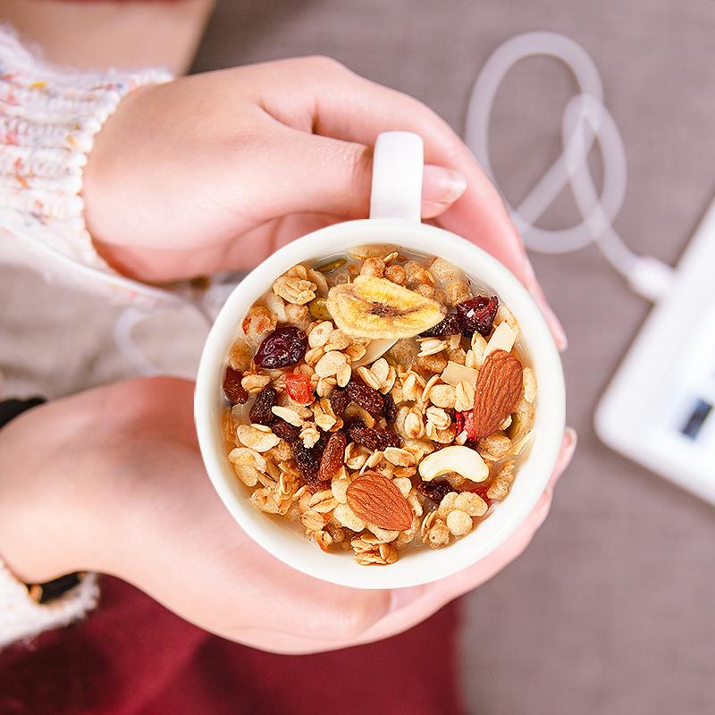 北海白色恋人酸奶果粒燕麦片冲饮,即食营养早餐代餐450g
