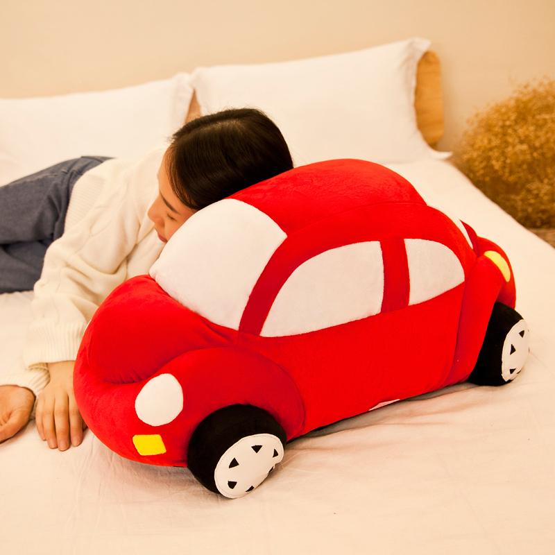 小汽车毛绒玩具儿童床上抱枕玩偶公仔布娃娃创意男孩生日礼物女孩