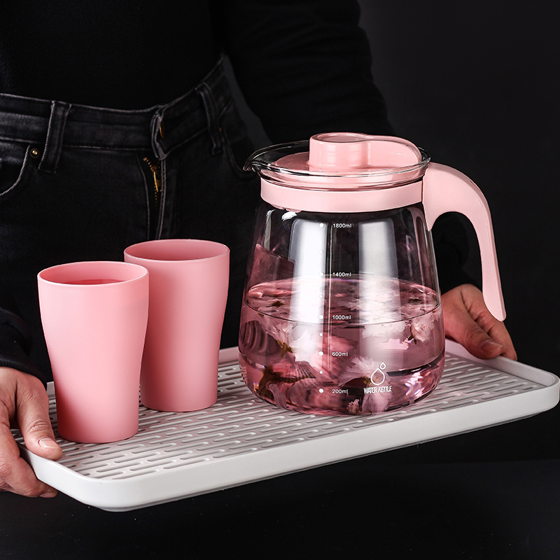 耐高温冷水壶玻璃耐热冷水杯凉白开水壶凉茶壶大容量水壶家用凉水