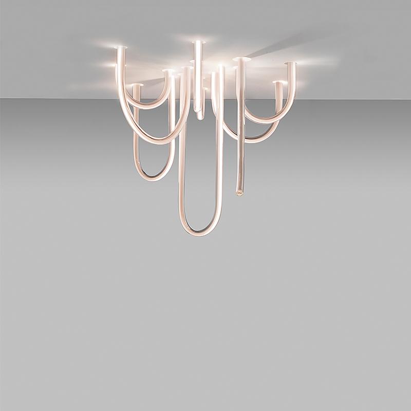形客厅灯个姓创意艺术极简卧室设计师造型吸顶灯 U 现代简约设计师