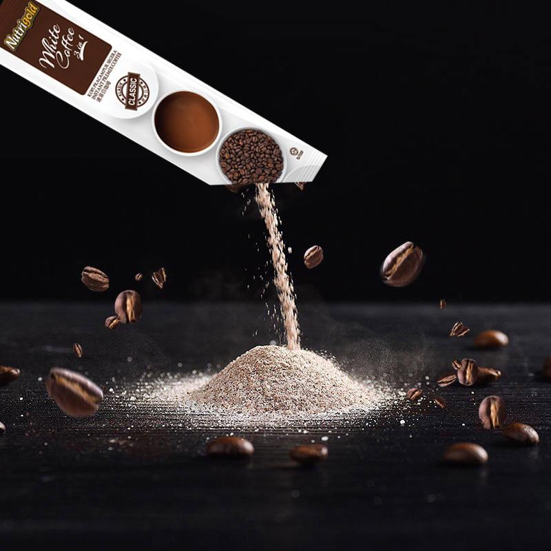 Nutrigold诺思乐原装进口三合一速溶白咖啡提神经典味咖啡粉600g