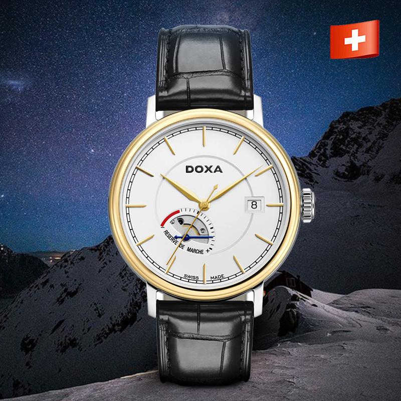 DOXA时度 瑞士手表机械表鳄鱼皮表带18K金表全球限量瑞士原装进口