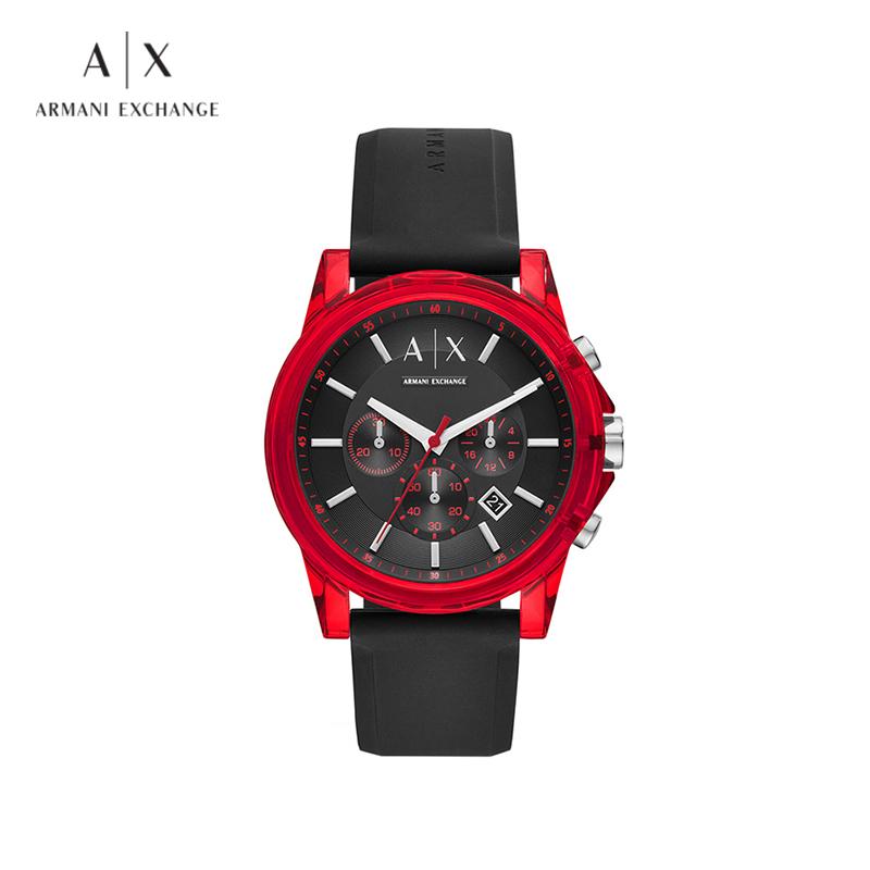 Armani Exchange阿玛尼手表男三眼表盘运动休闲石英腕表男 AX1326
