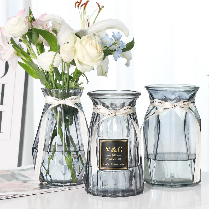 【3只装】北欧简约玻璃花瓶