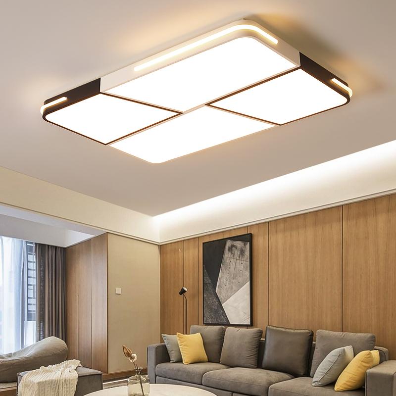 吸顶灯现代简约北欧卧室灯家用大厅房间书房灯黑白灯具 LED 客厅灯