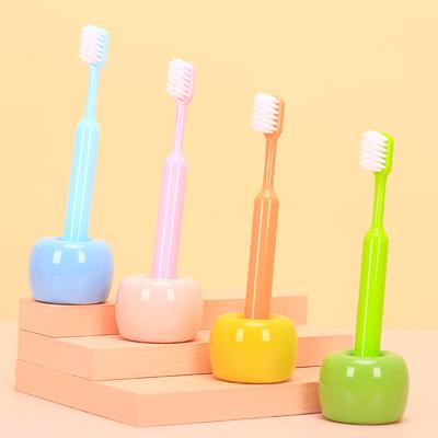 沐暄儿童牙刷3-6-10岁以上适用婴幼儿训练刷10支大容量送收纳杯