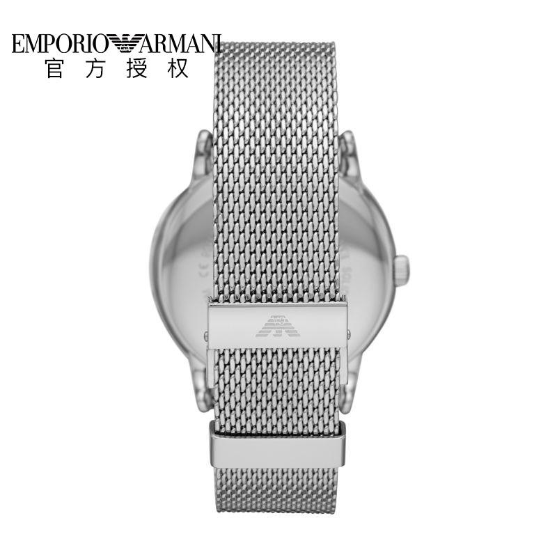 Armani 阿玛尼男表简约个性潮流商务休闲石英银色钢带腕表AR11272