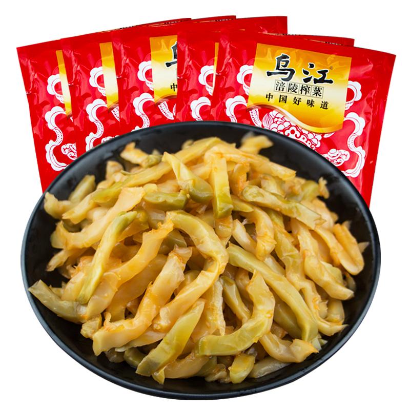 正宗重庆乌江涪陵榨菜80g袋装鲜脆菜丝早餐配粥下饭咸菜整箱包邮
