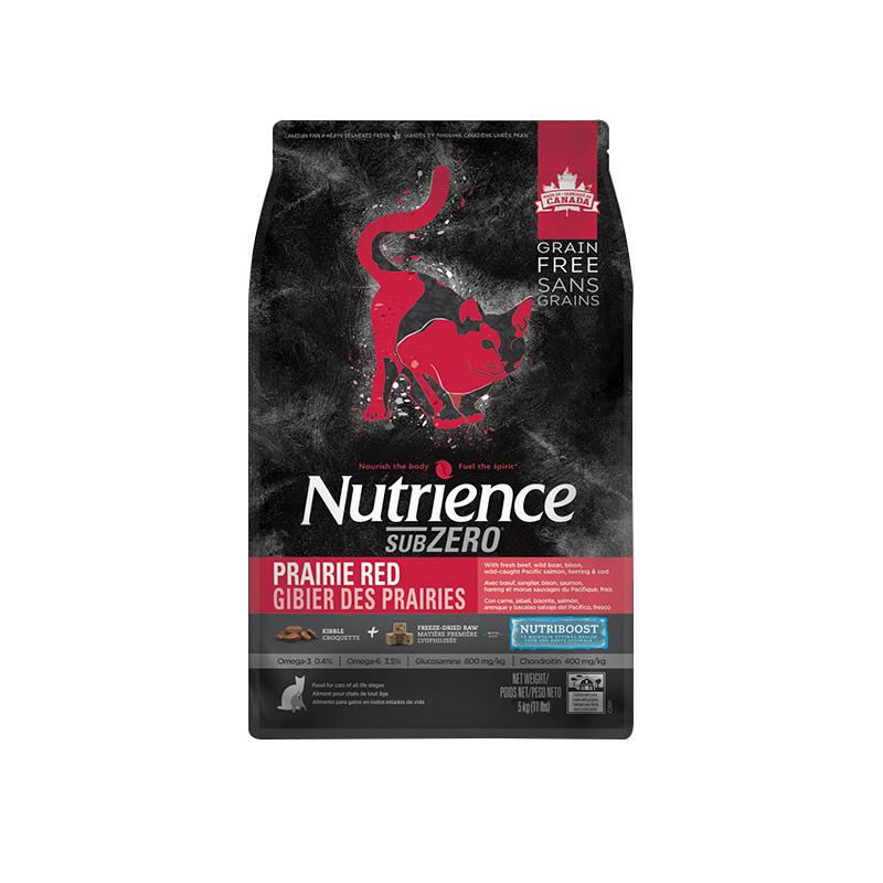 预售 Nutrience 哈根纽翠斯黑钻无谷红肉猫粮冻干全阶段猫粮11磅优惠券