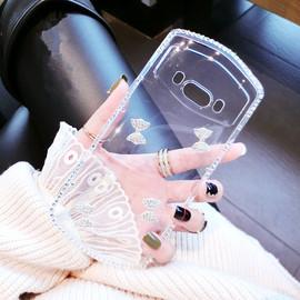 奢华水晶钻美图V7手机壳兰博基尼6T9限量版透明软硅胶M8T8S潮壳女