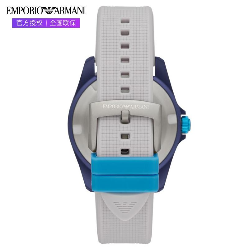 Armani阿玛尼手表正品时尚运动彩色硅胶男表个性男士手表AR11218