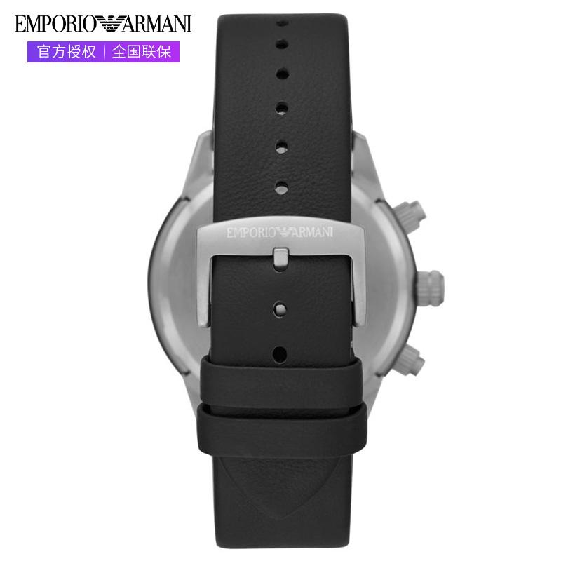 Armani阿玛尼手表时尚运动黑色石英男表 黑武士皮带AR11325