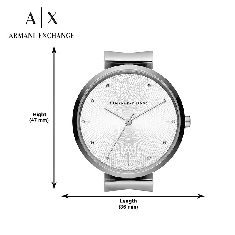 ArmaniExchange阿玛尼手表女新款简约时尚石英女表防水正品AX5900