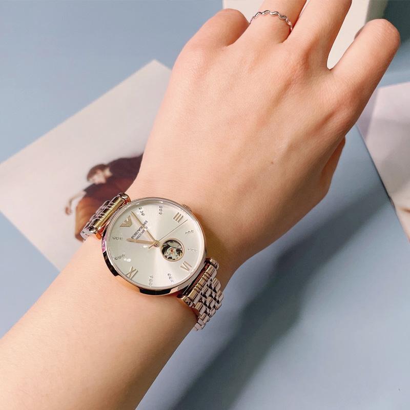 Armani阿玛尼手表女 新款满天星欧美全自动机械表女士手表AR60023