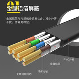 Seven types of double-core cable 8 Gigabit oxygen-shielding cat7 super-six Gigabit Engineering home network cable 1 2 3 m