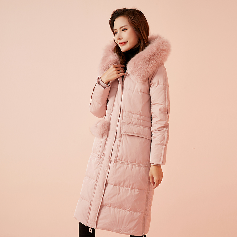 JJ&OO2019冬装新款韩版宽松大毛领羽绒服女中长款潮时尚外套潮