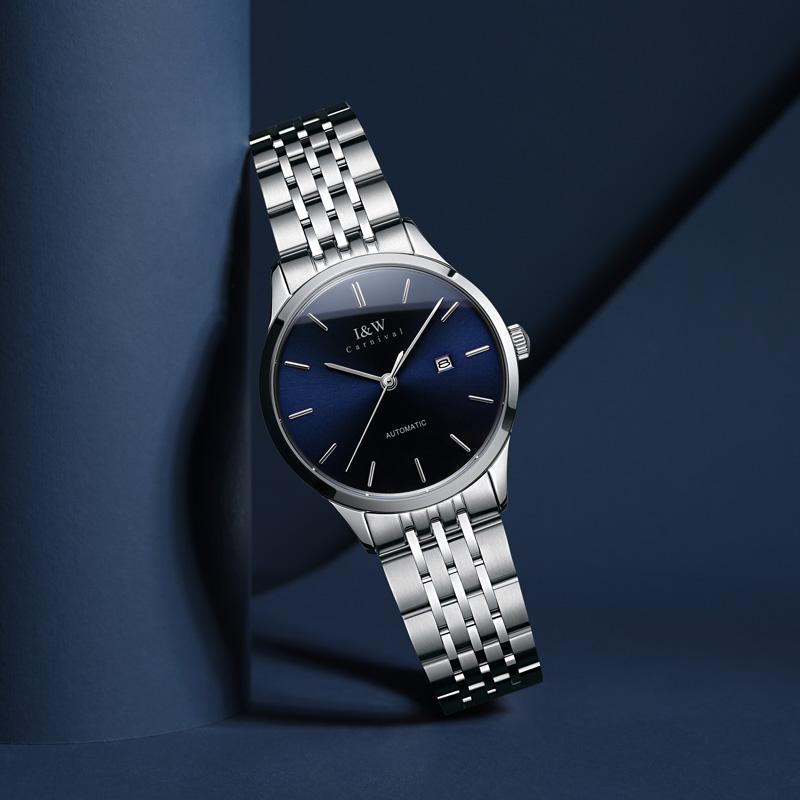 爱沃驰IW手表女机械表瑞士手表正品 情人节礼物防水女士手表8508L