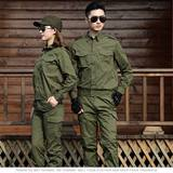Summer cotton thin army green workwear suits men and women camouflage wear welders wear-resistant labor protection clothing single piece optional