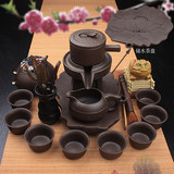 Lazy stone ceramic tea purple kung fu suit the whole home semi-automatic anti-scalding tea cup teapot creative
