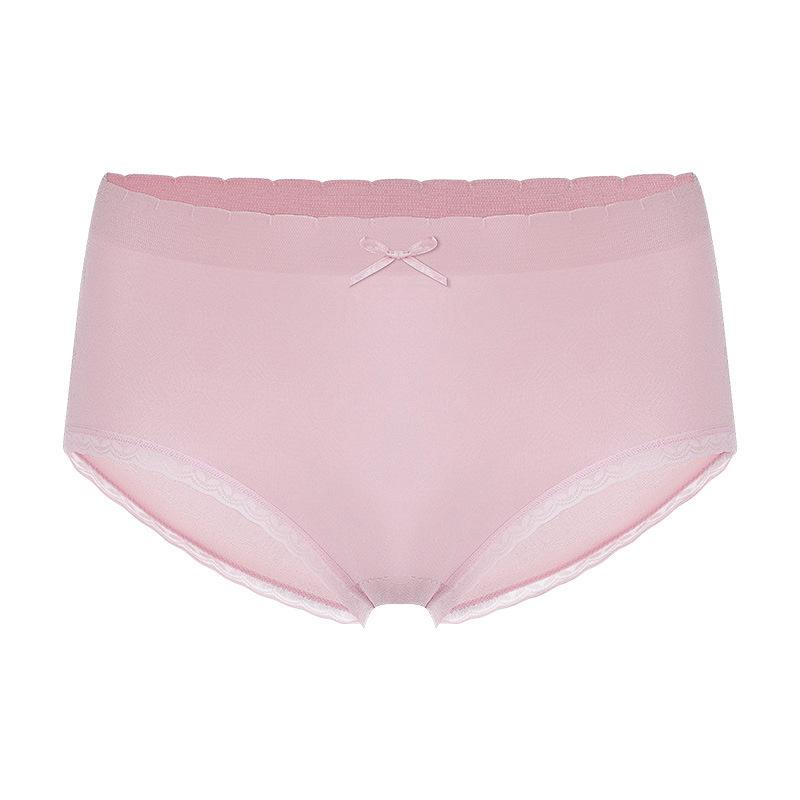 4条装玉盒导湿3.0石墨烯抗菌中腰内裤女士无痕裸感超薄无缝三角裤【图5】