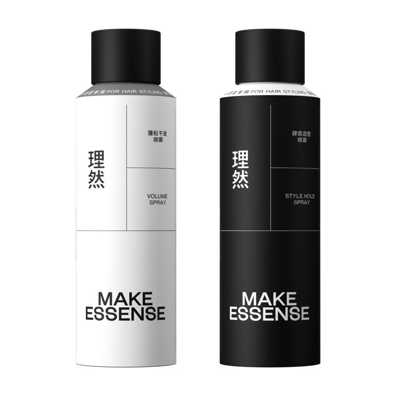 理然定型喷雾发胶男士干胶清香型头发去油自然蓬松神器喷雾