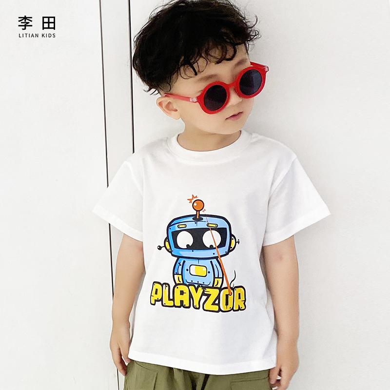 李田儿童长袖T恤秋款上衣男童