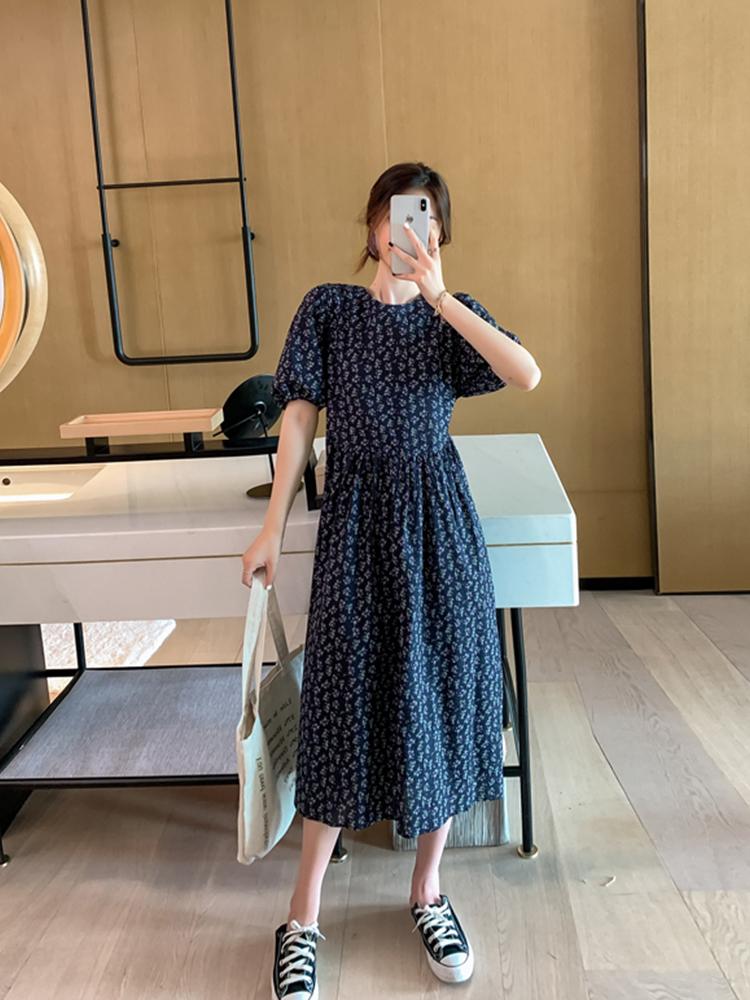 法式小众碎花显瘦气质女神范温柔风夏天连衣裙子 年夏装新款  2020
