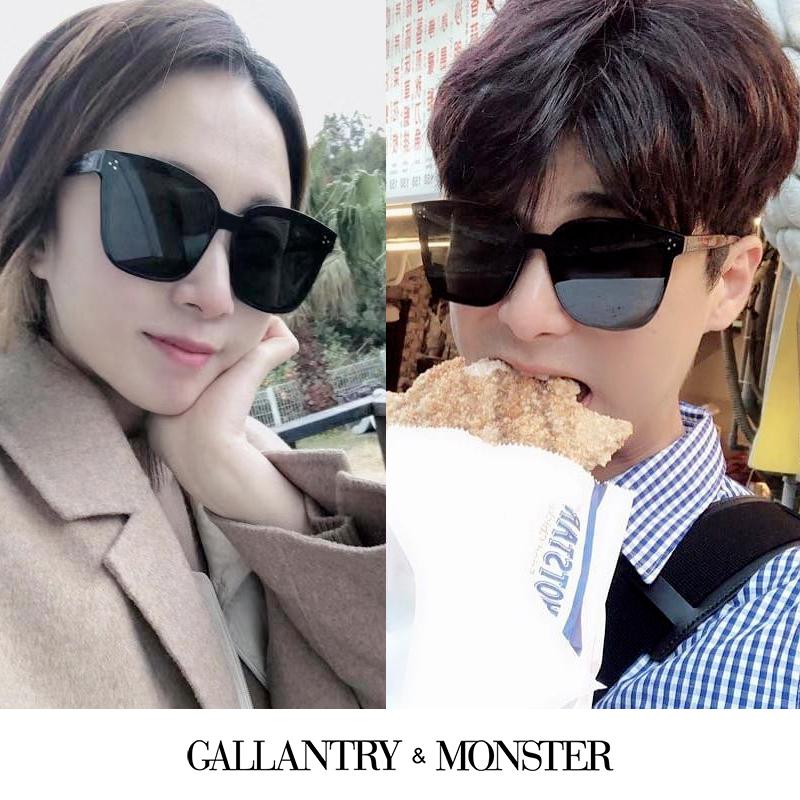 墨镜女网红款  新款男士开车圆脸防紫外线近视太阳镜潮 2020 新加坡 GM