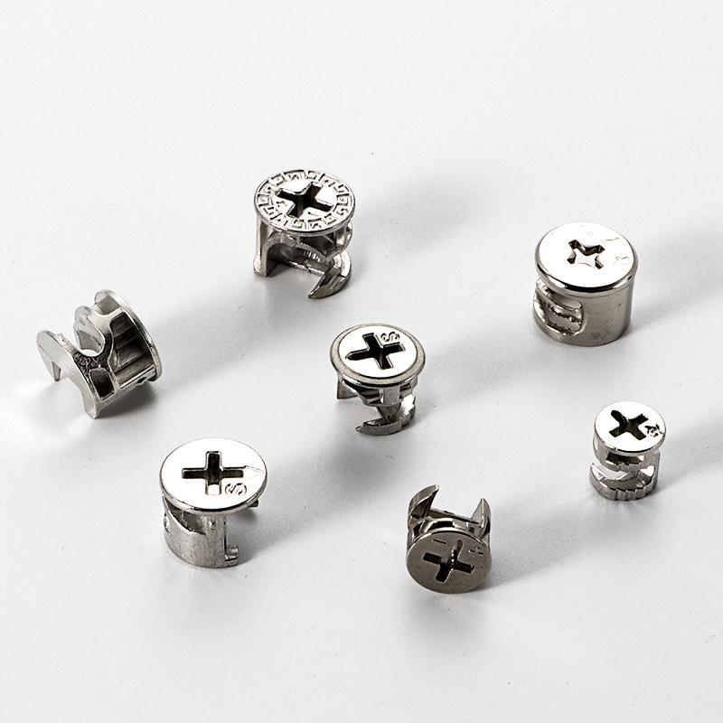加厚偏心輪家具三合一連接件床衣柜櫥柜板式家具組裝配件螺絲螺母