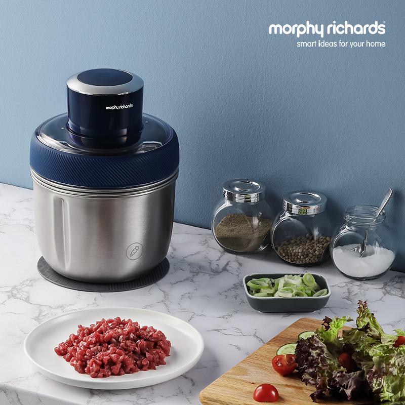 摩飞绞肉机家用电动小型多功能碎菜绞肉馅辅食料理机不锈钢搅拌机