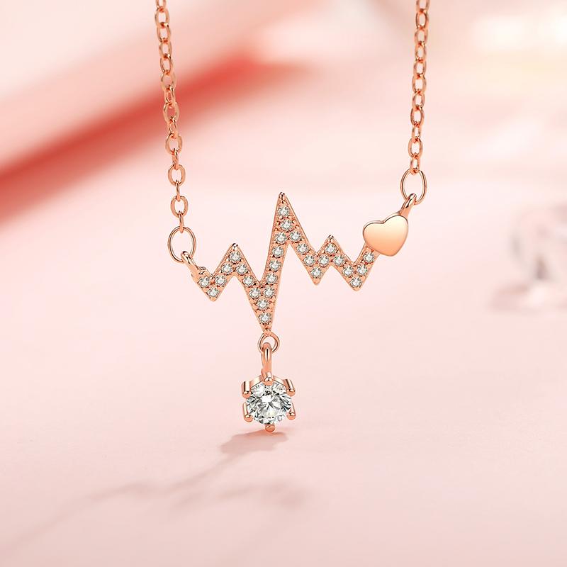 925纯银项链女吊坠锁骨链轻奢小众品牌设计感生日新年礼物送女友 - 图3