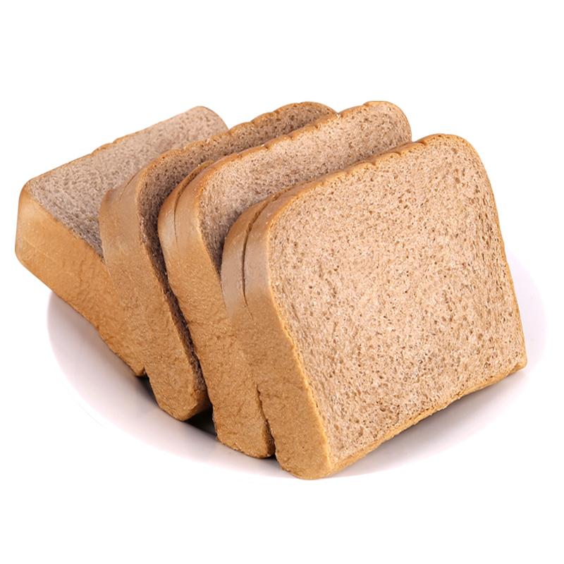 黑麦全麦面包切片吐司整箱早餐饱腹代餐低0无蔗糖脂肪热量零食品