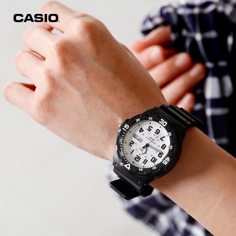 MRW 200H 卡西欧手表男学生情侣运动韩版简约潮流防水石英儿童腕表