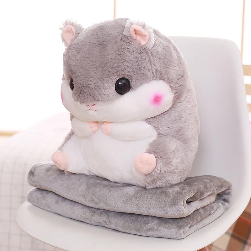仓鼠龙猫公仔娃娃玩偶可爱抱枕毛绒玩具女生睡觉暖手女孩生日礼物