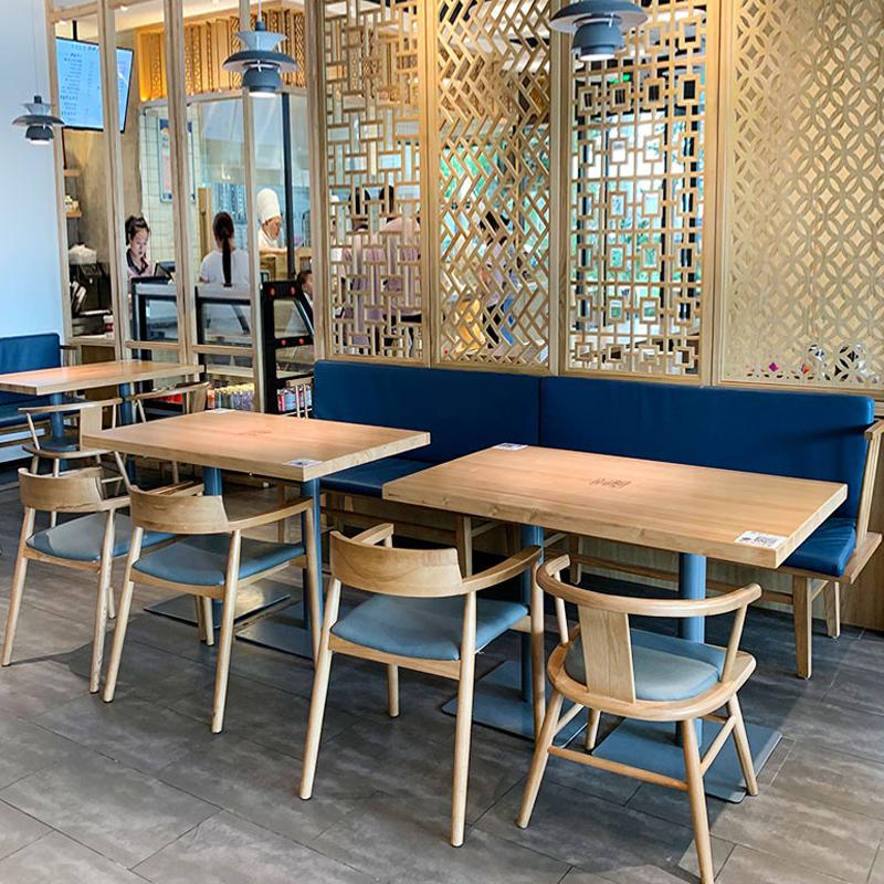 饭店实木餐桌椅子组合