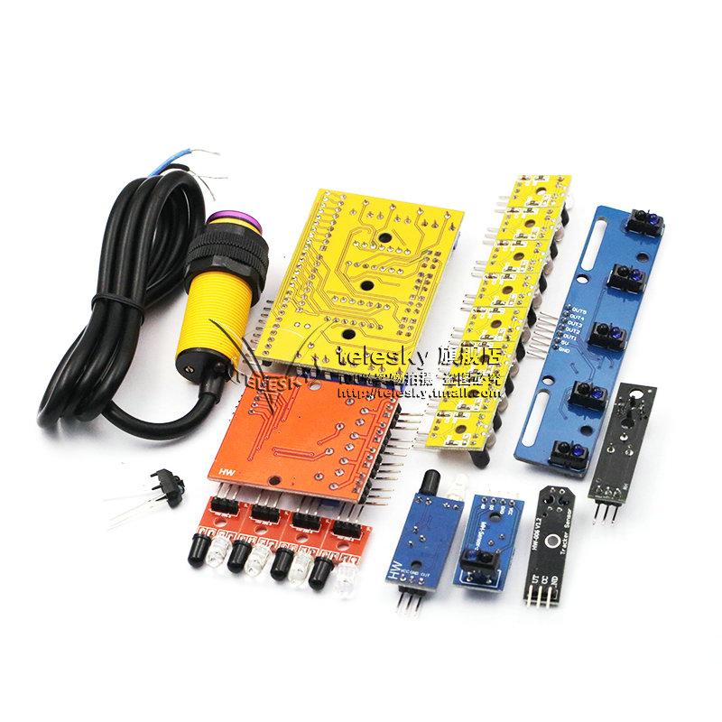 红外寻迹 循迹 避障传感器模块 光电反射对管光电开关板智能小车