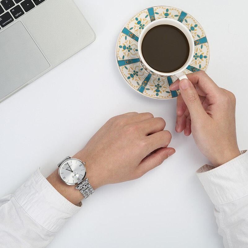 【新年限时秒杀】阿玛尼手表男士石英商务正品防水钢带手表AR1819