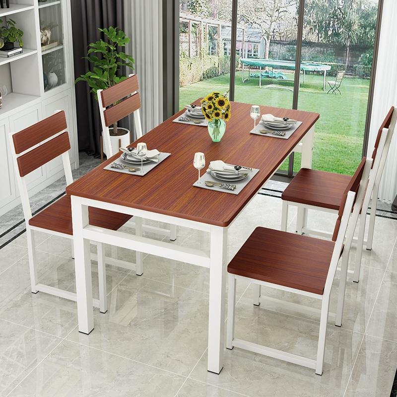吃饭桌简易4人6桌椅