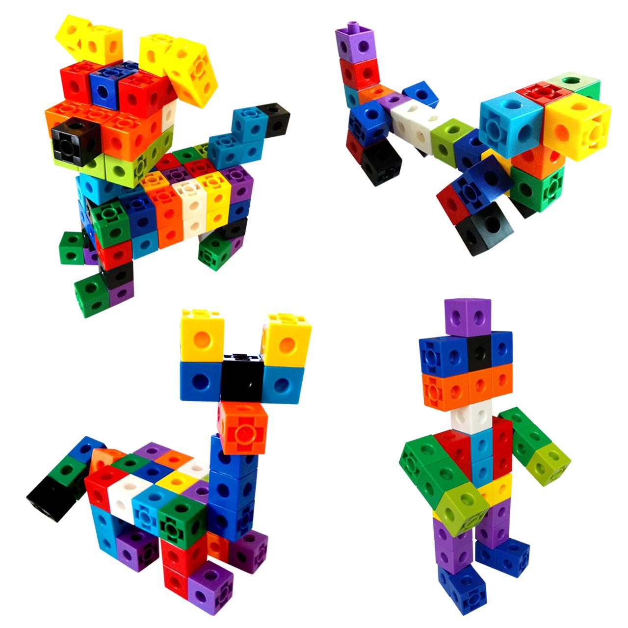 幼儿童积木拼装塑料方块1-3-6周岁4男女孩宝宝益智力拼插桌面玩具