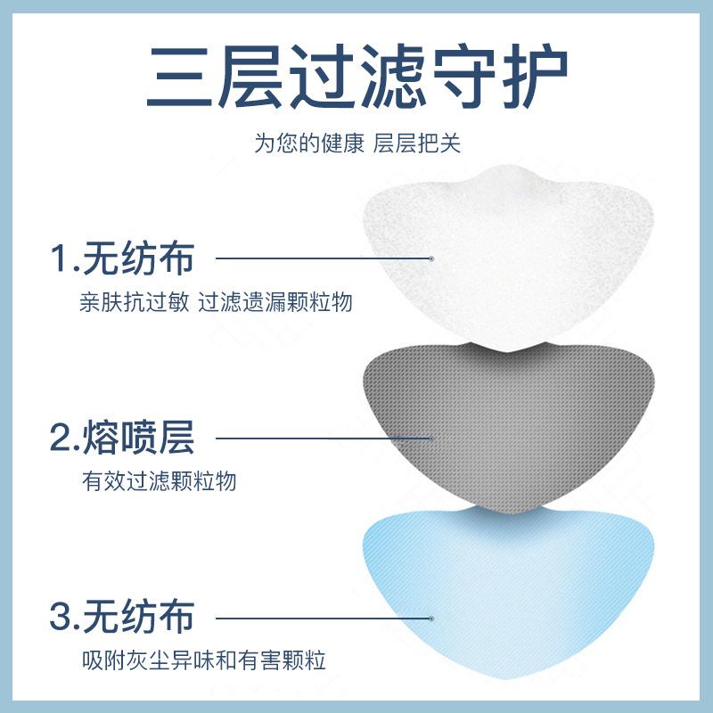 现货100只防尘口罩含熔喷布三层口鼻罩14