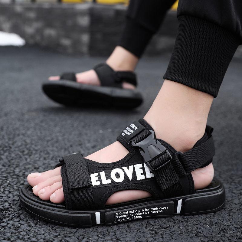 新款夏季凉鞋男士大码鞋防滑沙滩鞋个性外穿两用拖鞋休闲透气凉拖