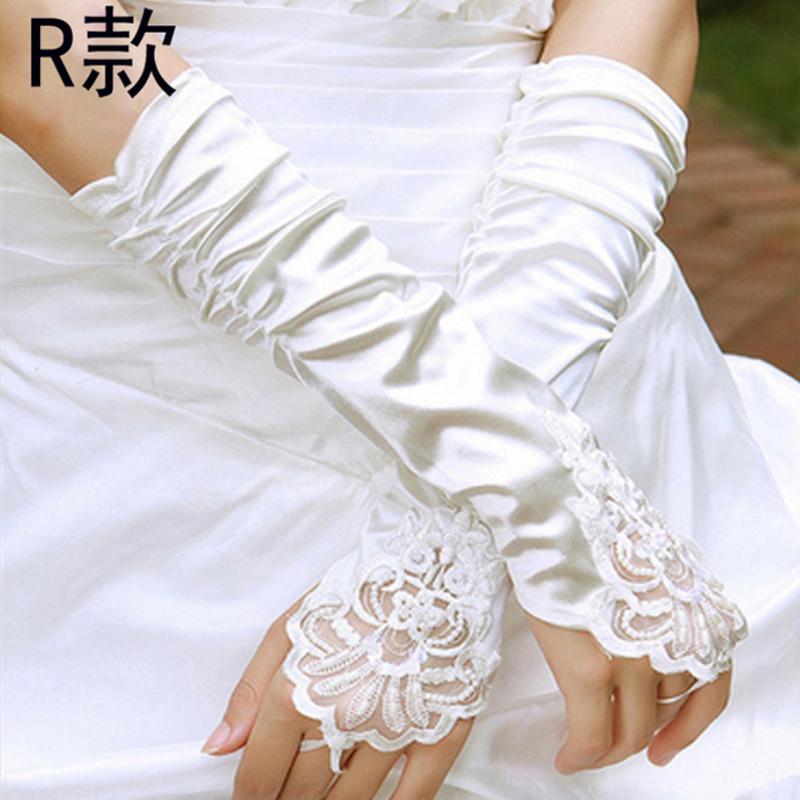 防晒春夏性感手套女薄款蕾丝婚礼手臂套绣花长款短款配饰半截婚纱