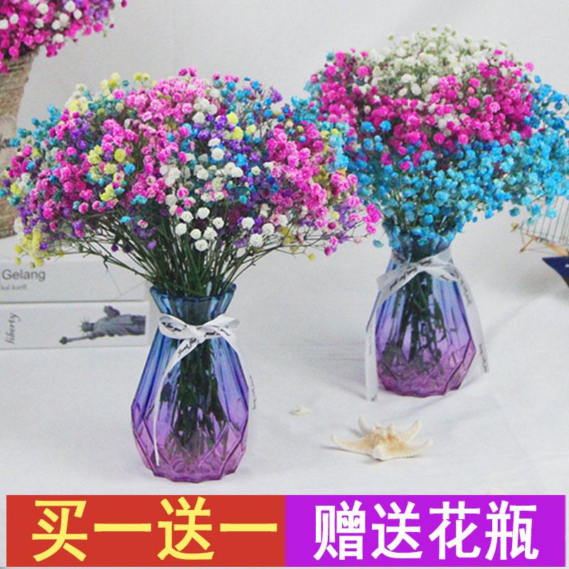 云南天然风干满天星干花花束客厅摆设干花真花装饰摆件花草为伴