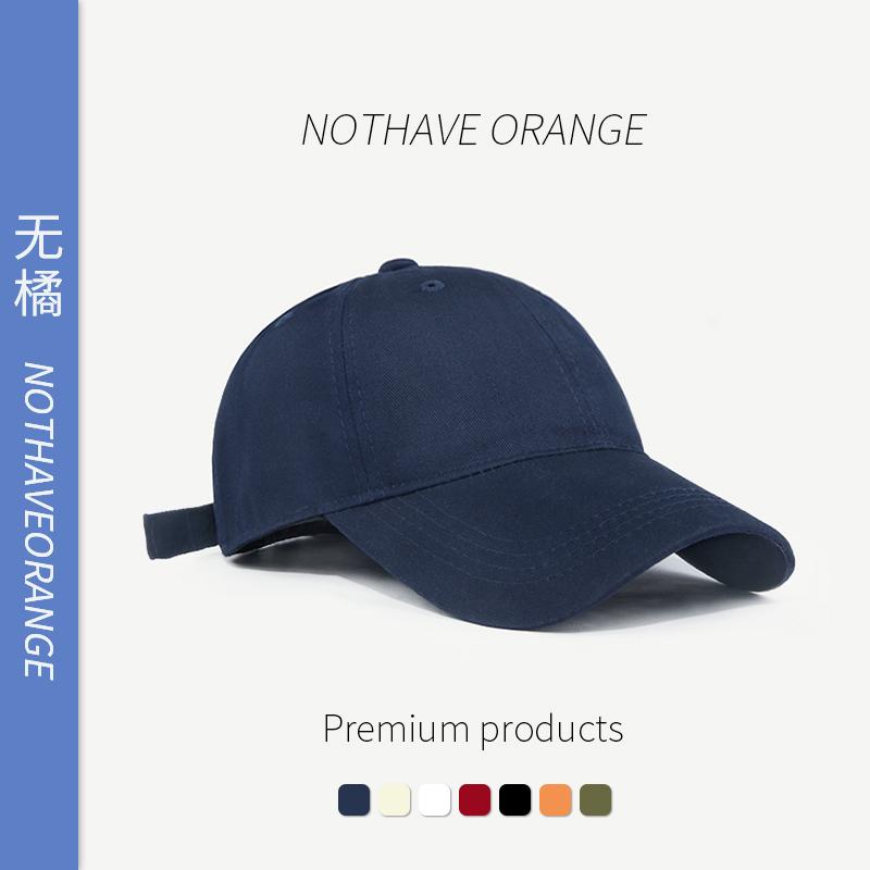 ins潮棒球帽女韩版显脸小春秋网红软顶蓝色帽子男夏季纯色鸭舌帽